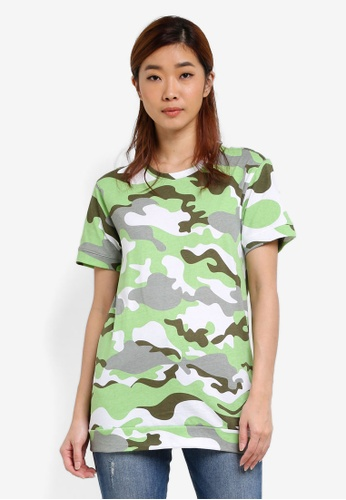UniqTee green Printed Top UN097AA0S22UMY_1
