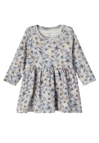 NAME IT grey Nille Long Sleeves Dress A78FDKA4DEDD92GS_1