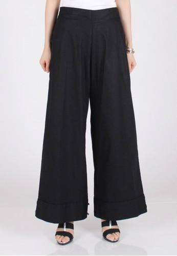 Meitavi's 2-Way Cotton Linen Culotte Jogger Pants - Black