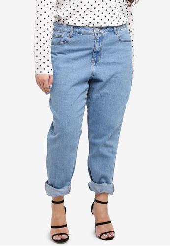 LOST INK PLUS blue Plus Size Slim Mom Jeans In Elderberry 3904CAA1DF4B0BGS_1