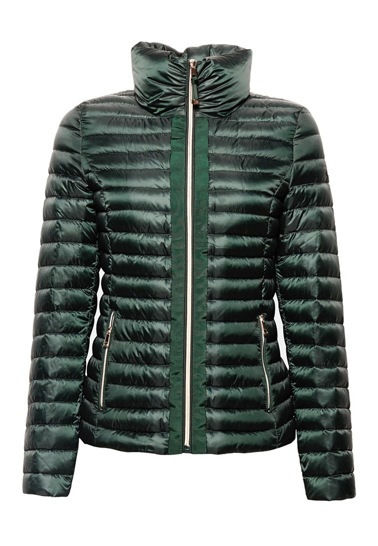 Stand Extremely A up Lightweight Jacket Down Collar Green With ESPRIT YFAqwq