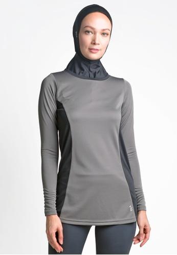 ViQ grey ViQ Ladies Long Sleeve Top 5B8F8AA38D9146GS_1