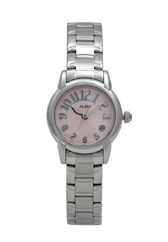Alba silver ALBA Jam Tangan Wanita - Silver Pink - Stainless Steel - AXT267 B19C2ACD515176GS_1