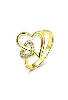 18k Gold Plated Charity Heart Ring