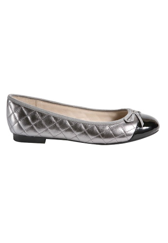 MAUD FRIZON silver Quilted Leather Ballerinas 990CDSH5577675GS_1