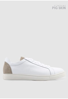 e1a13a87a574a6 Selected Homme white David Contrast Trainers 53C9DSH90367BBGS 1