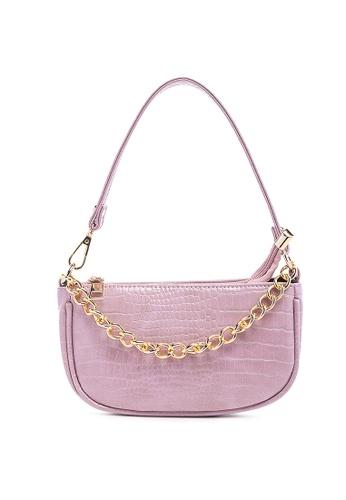 London Rag purple Croc Sling bag in Purple 608B0ACCA73E4BGS_1