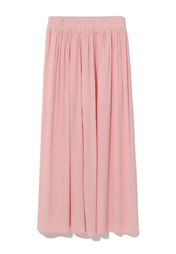 b+ab pink Pleated culottes 933ACAA9BB9CD8GS_1