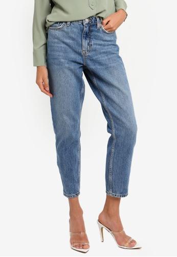 d542dc32b Buy TOPSHOP Petite Mid Blue Mom Jeans Online on ZALORA Singapore