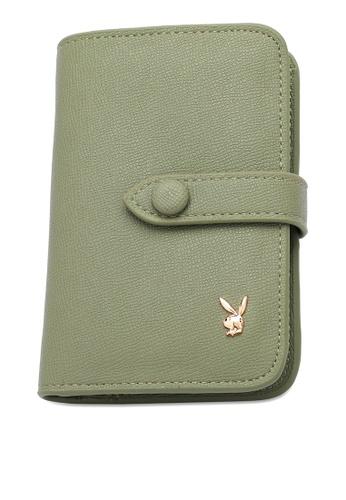 PLAYBOY BUNNY green Women's Bi Fold Purse / Bi Fold Wallet 722A0AC557B194GS_1