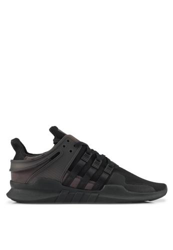 adidas black adidas originals eqt support adv AD372SH0SHYYMY_1