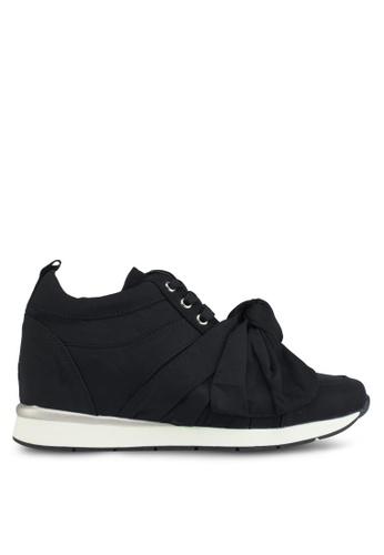 LOST INK black Selis Bow Wedged Mid Top Sneakers AE167SH42C5480GS_1