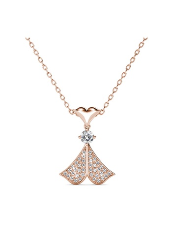 Her Jewellery gold Rain Doll Pendant (Rose Gold) -  Made with premium grade crystals from Austria B7618ACE2AF84AGS_1