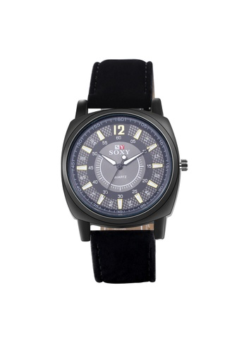 Treasure by B & D black WH0052A Stylish Quartz Business Casual Man Watch Stainless Steel Metal Round Dial TR022AC38UNXPH_1