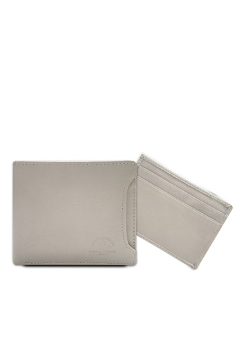 Santa Barbara Polo & Racquet grey Santa Barbara Polo & Racquet Club Leather Bifold Wallet with Additional Card Holders 6A89EAC063F6C5GS_1