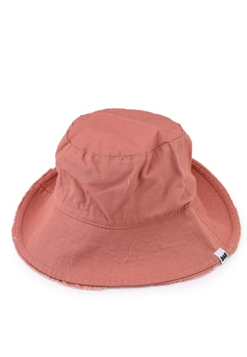 Milliot & Co. pink Carson Bucket Hat 7AC51ACBAE2F85GS_1