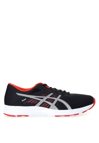 Asics black and white Fuzor Running Shoes AS445SH21DACPH_1