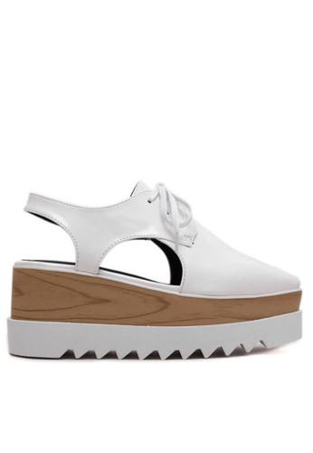 Twenty Eight Shoes white Wood Platform Cutout Derbies TW446SH00IULHK_1