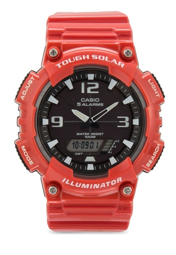 Casio red Men's AQ-S810WC-4AVDF Analog-Digital Display Quartz Watch CA843AC85XZEMY_1