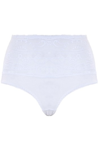 Cynthia white Annaya-Maxi Panty With Chic Lace-White CY646US49HJIID_1