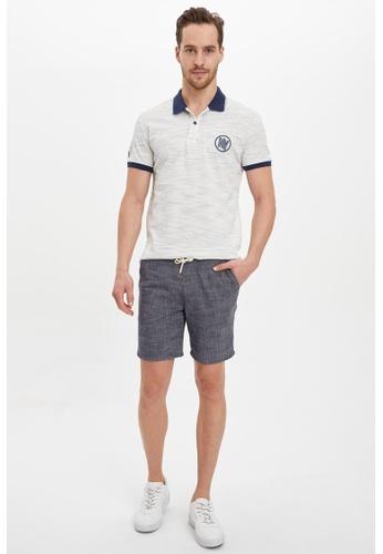 DeFacto blue Regular Fit Cotton Bermuda Shorts F226FAA0EAF0DCGS_1