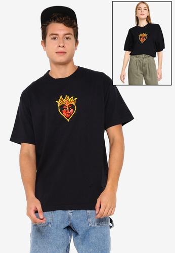 OBEY black Be Mine T-shirt D5A35AA4E38BB4GS_1