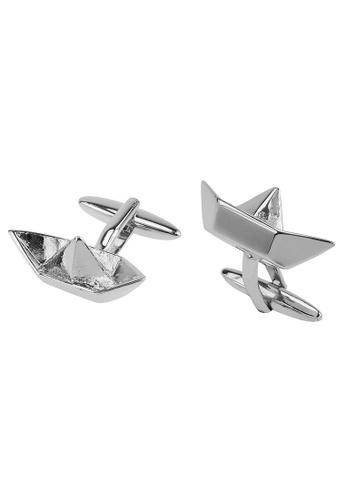 CUFF IT silver Paper Boat Cufflinks CU047AC2UQPJHK_1