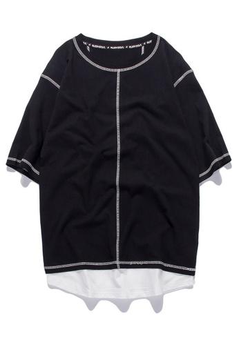 HAPPY FRIDAYS Oversize Casuel Half Sleeve T-shirt RS1180 15F37AA1B913C2GS_1