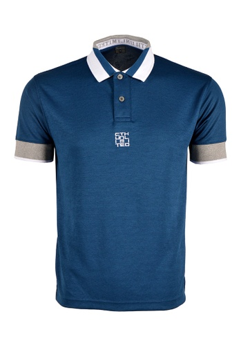 Cheetah blue CTH unlimited Short Sleeve Polo Shirts - CU-7958 6801AAAF7BF42AGS_1