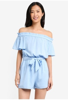 e762a66018f3 Psst... we have already received your request. ZALORA. Off Shoulder Playsuit