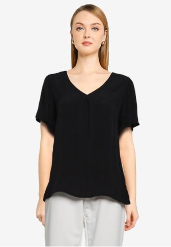 JACQUELINE DE YONG black Lea Short Sleeve Top 2FC73AA9434E6BGS_1