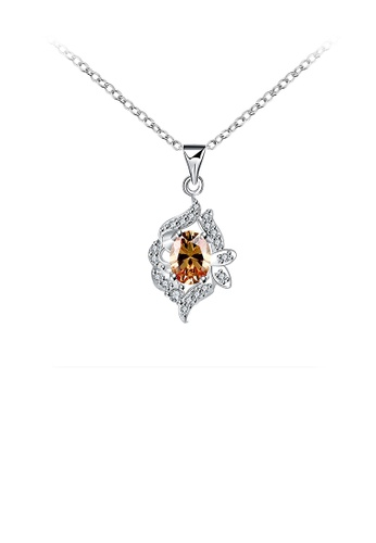 Glamorousky gold Classic Geometric Pendant with Gold Cubic Zircon and Necklace 4178BACF15CCB0GS_1