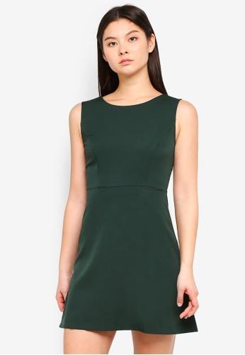 Something Borrowed green Fit & Flare Dress D7F38AAB5948C0GS_1