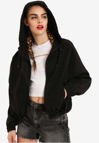 PIMKIE black Zipped Detail Hoodie Sweatshirt A09FBAABA7719EGS_1