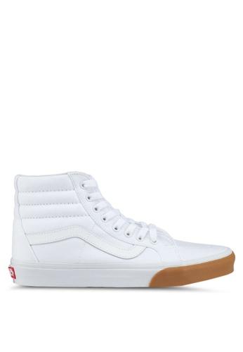 VANS white SK8-Hi Reissue Gum Bumper Sneakers VA142SH0SWMKMY_1