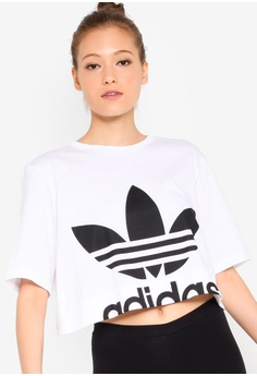 1ecaecd51c3 adidas white adidas originals cut-out tee 44399AA6C39945GS_1