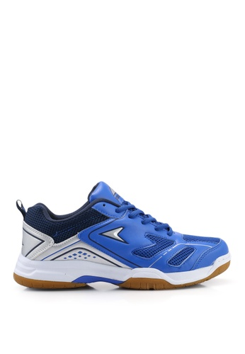 Power multi and navy Badminton Court Shoes E3E53SH11C0F6FGS_1