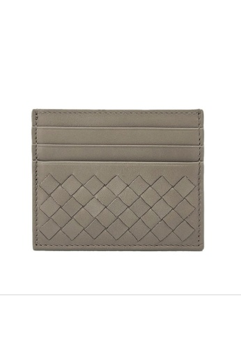 Bottega Veneta grey Bottega Veneta Intrecciato Card Holder in Light Grey for UNISEX 1F17EAC09D3AA0GS_1