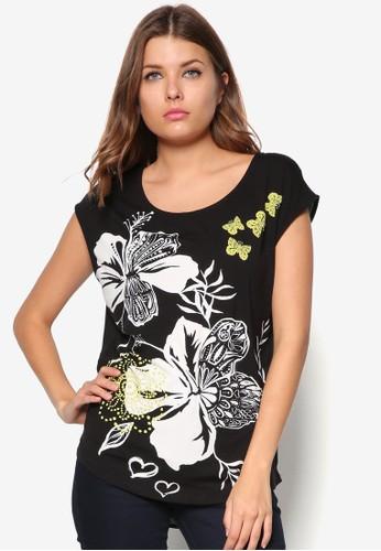 印花無袖上衣, zalora時尚購物網評價服飾, T恤