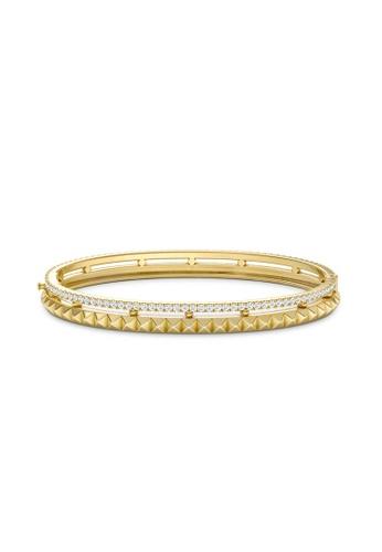 Aquae Jewels yellow Bangle Rich & Bold Peaks 18K Gold - Yellow Gold 0645FAC86E8B22GS_1