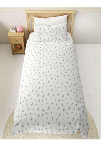MARKS & SPENCER blue M&S Pure Cotton Peter Rabbit Bedding Set (Toddler) 3E487HL3028462GS_1