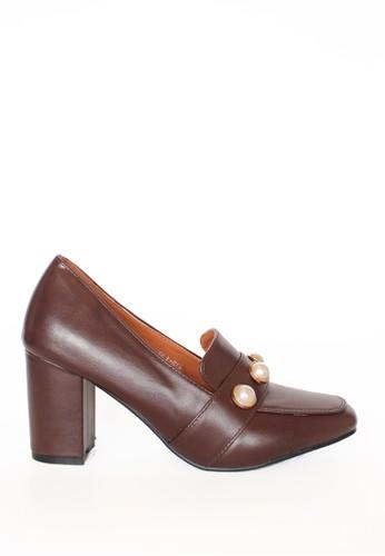 MINKA brown PERL Brown Vintage Heels MI006SH13BHYID_1