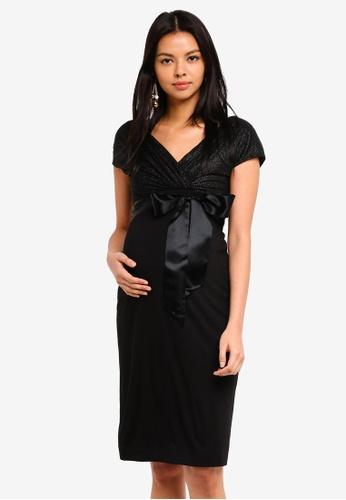 Tiffany Rose black Maternity Bardot Shift Dress AFFAFAA9A2DDEEGS_1