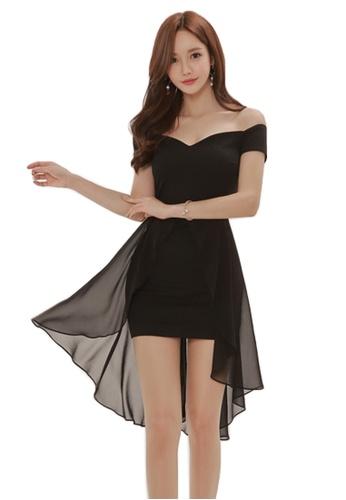 82ae0dd06303 Sunnydaysweety black 2018 New Black Off-shoulder Bodycon One Piece Dress  A061235 CB490AA4E2AB21GS 1