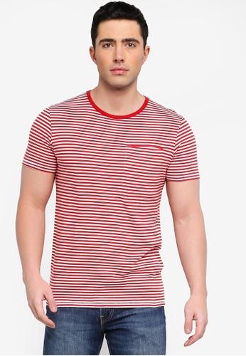 Scoprire andare online scegli il più recente Buy Selected Homme SLHTIM Stripe Pocket Tee | ZALORA HK