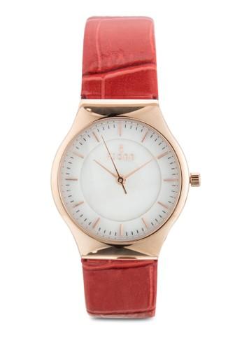 OLLE 三指針皮esprit地址革錶, 錶類, 飾品配件