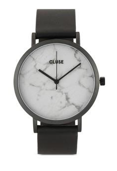 La Roche Full Black/White Marble Watch