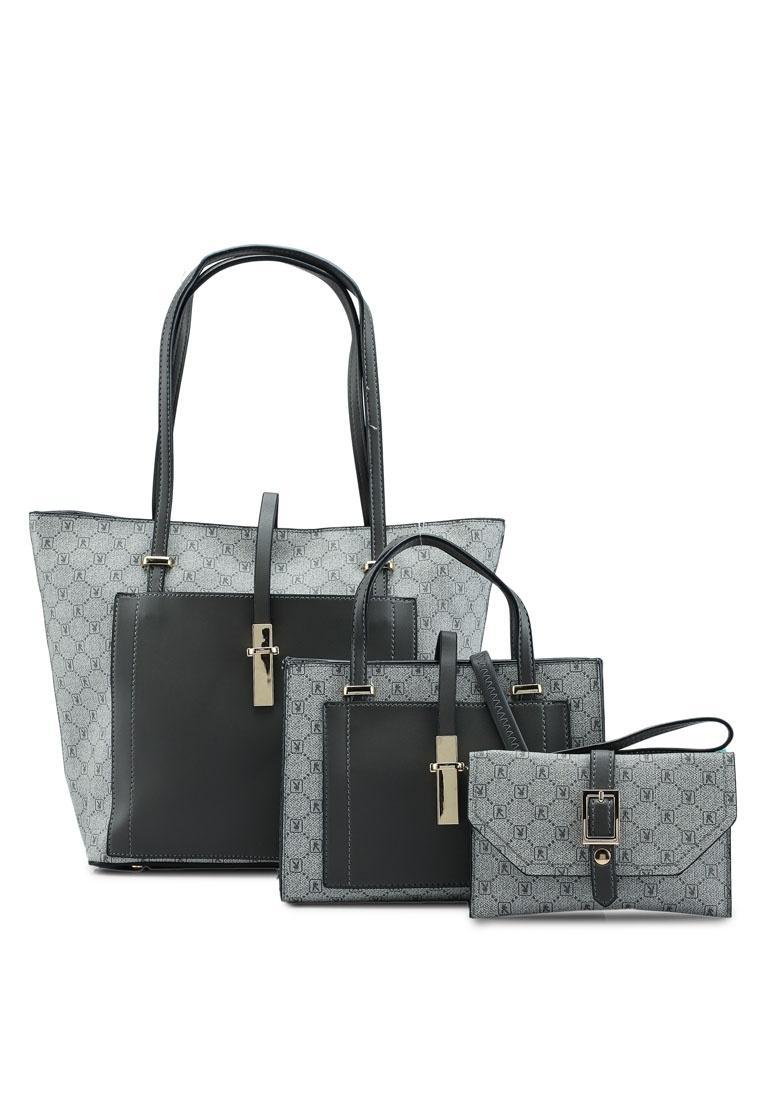 d9ee75925a72 Bag Grey in Black Logo PLAYBOY 1 BUNNY Ladies 3 Printed Friday X87nzq7H ...