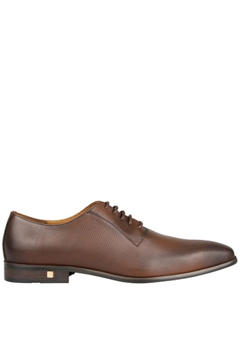 Tomaz brown Tomaz F110 Plain Toe Oxford (Brown) 3588FSH101F8B0GS_1