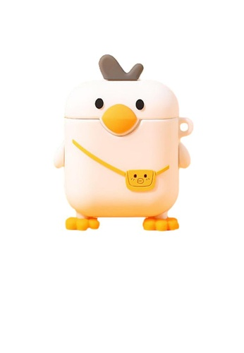 Kings Collection white Cute Duck AirPods Case (KCAC2145) F1870AC32B33B1GS_1